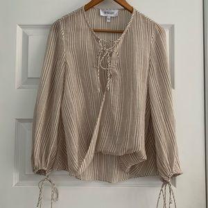 Derek Lam 10 Crosby cotton tie up blouse small